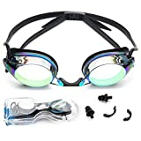 Newbee Fashion - Adjustable Adult Unisex Anti-Fog UV Protection Slim Light Weight Swimming Goggles