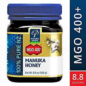 Manuka Health - MGO 400+ Manuka Honey, 100% Pure New Zealand Honey, 8.8 oz (250 g)