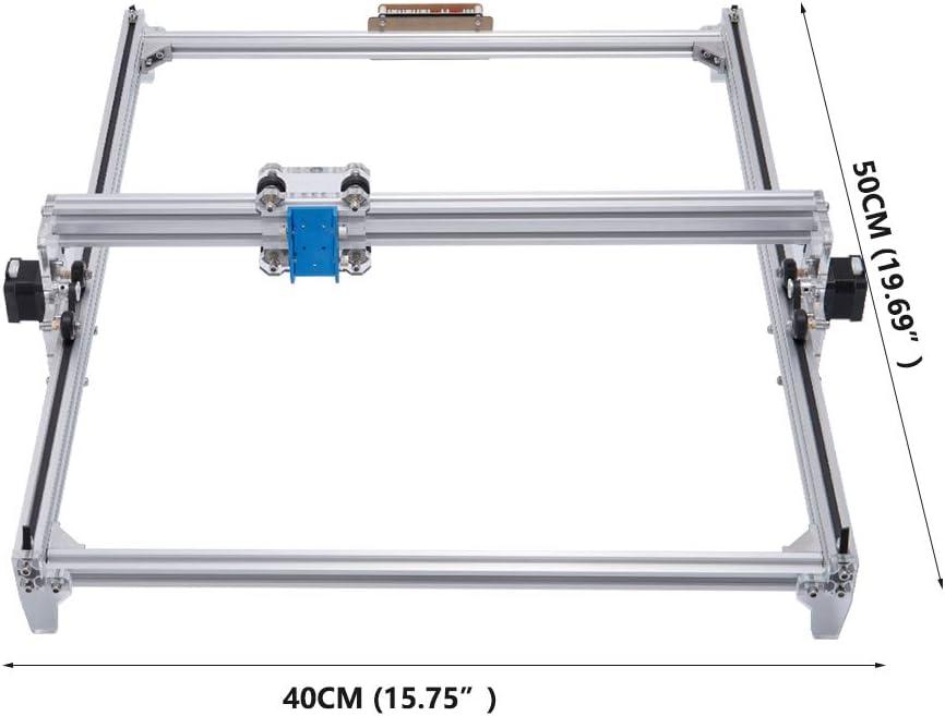 15000 mw impresora de oficina de 2 ejes para cuero pl/ástico de madera 400 * 300 mm marca de imagen del logotipo de la impresora DIY enrutador cnc de madera TOPQSC M/áquina de grabado l/áser