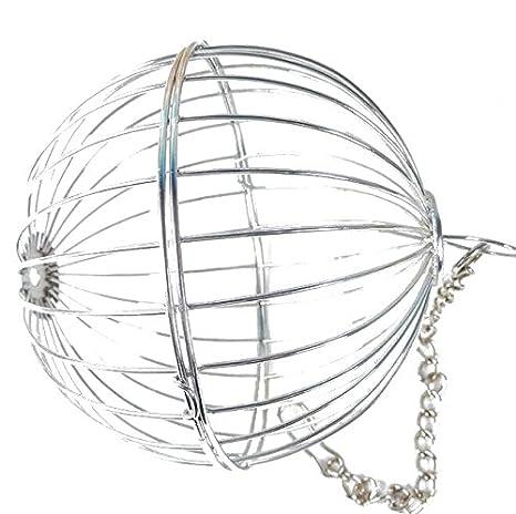 UEETEK Esfera Trate Dispensador de heno Juguete colgante del alimentador de la bola para el conejo Chinchilla Conejillo de Indias Pequeños animales: ...