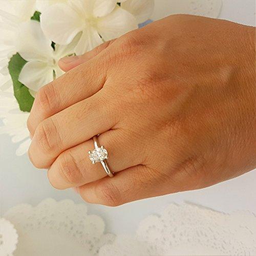 b76ba392f Dazzlingrock Collection IGI Certified 0.92 Carat (Ctw) 14K Oval White  Diamond Ladies Engagement Solitaire