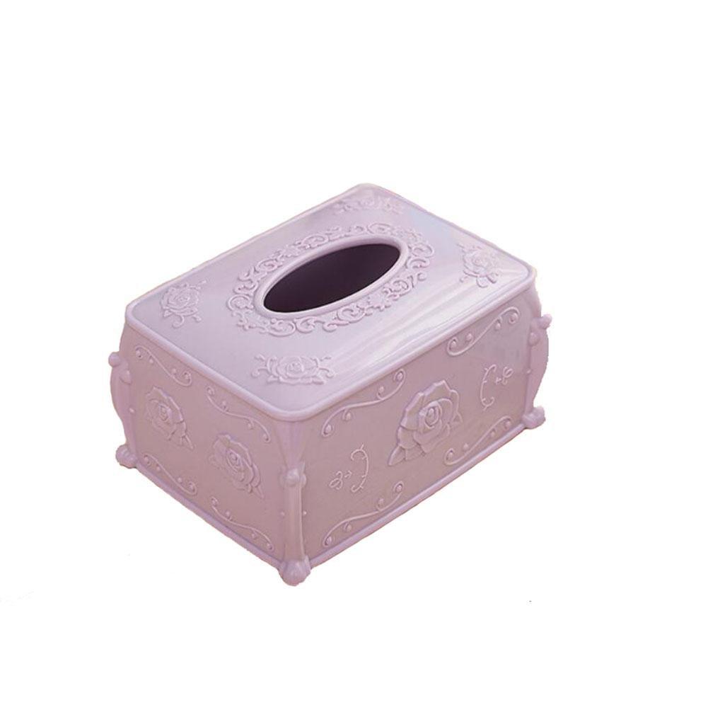 Plastic Tissue Box Cover for Home , powder