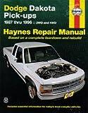 H30020 Haynes Dodge Dakota Pickups 1987-1996 Repair Manual