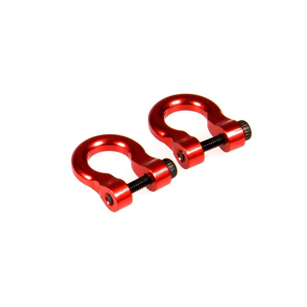 XUNJIAJIE 1//10th Aluminio 2 Pares RC Grillete de Remolque Anillos de D para Traxxas TRX4 T4 1//10 RC Crawler Cami/ón Auto