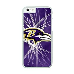 Best Diy iPhone 6 White cell phone case cover Baltimore Ravens NHUafIcblEQ NFL Durable Customized cell phone case cover