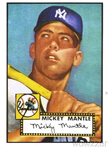 Mickey Mantle 1952 Topps Rookie Reprint from 1991 East Coast National Legendary Hall of Famer New York YankeesShipped in Ultra Pro Top Loader to Protect it!