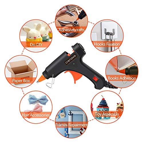 CRENOVA Hot Glue Gun, Glue Gun Kit with 60pcs Glue Sticks, High Temperature Melting Mini Glue Gun for DIY Small Projects, Arts and Crafts, Home Quick Repairs,Artistic Creation(20 Watts) by CRENOVA (Image #4)