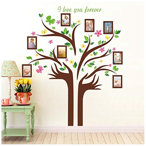 Family Tree Wall Decal with Quotes, H2MTOOL Removable 5