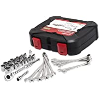 Husky 1/4 in. and 3/8 in. Drive Universal Mechanics Tool Set (33-Piece)