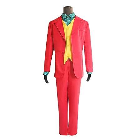 Joker Costume Halloween Deluxe Cosplay Party Super Villain ...