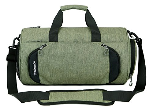 Gym Sports Small Duffel Bag for Men and Women with Shoes Compartment - Mouteenoo (X-Small, Green)
