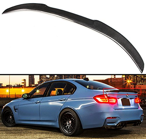 (Cuztom Tuning Carbon Fiber M4 Look Performance Style Trunk Spoiler Wing Fits for 2013-2018 BMW F30 328i 335i & F80 M3 )