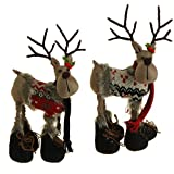 Raz Reindeer Best Deals - RAZ Imports Stuffed Christmas Reindeer with Scarves, Boots. and Sweaters 13