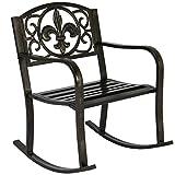 Patio Metal Rocking Chair Porch Seat Deck Outdoor Backyard Garden Glider Rocker new #207
