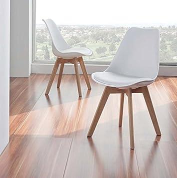 2 Er Set Design Stühle Modell Schweden 48x84x54cms Amazonde
