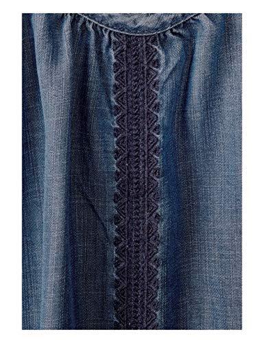 Cecil 10320 Vestito Wash Blue mid Used Blau Donna 0Adgqnr0