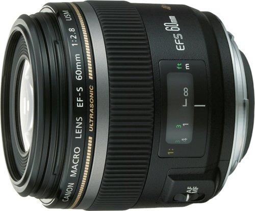 Canon Single Focus Macro Lens EF-S60mm F2.8 Macro USM APS-C (EF-S6028MU) [International Version, No Warranty]