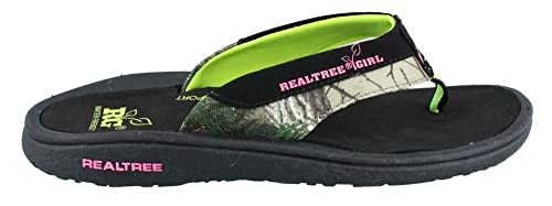 2dff6f7092899 Amazon.com   Realtree Outfitters Women's, Stream Thong Sandals Lime ...