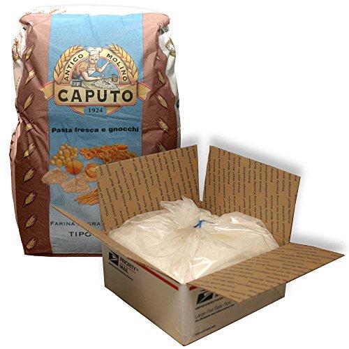 00 Antimo Caputo Pasta & Gnocchi Flour 5 Lb Bulk - Italian Double Zero Grain Type - Extracted Wheat Blend - All Natural for Pasta Fresca Dough (Best Flour For Pasta)