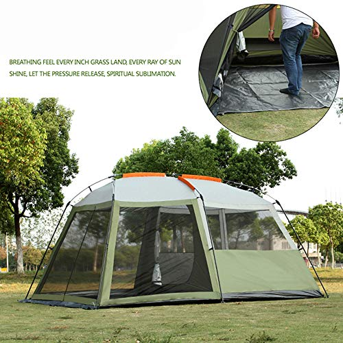 MENGQIN 4 Person Outdoor Camping 1 Hall 1 Bedroom Anti Rain Wind Big Traveling Camping Tent In Large Space