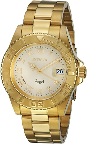 Invicta Women's Angel 18K Gold Plated Steel Champagne Dial ()
