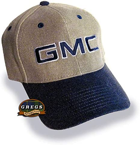 Bundle with Driving Style Decal Gregs Automotive GMC Hat Cap Khaki and Navy Blue