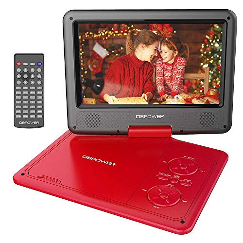 Big Save! DBPOWER 11.5 Portable DVD Player with 9.5 Swivel Screen, 5-Hour Built-in Rechargeable Ba...