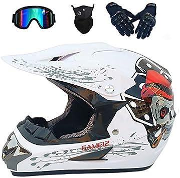 SBUNA Infantil Casco Motocross Integral, Casco Enduro Dirt Bike ...