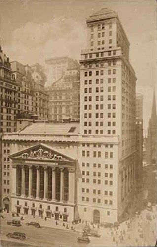 Vintage Stock Photography (New York Stock Exchange New York City Original Vintage Postcard)