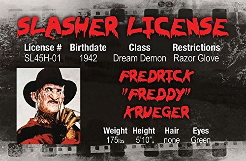 A Nightmare on Elm Street FREDDY Halloween costume gear fake id card Drivers (Lion Killer Halloween Costume)
