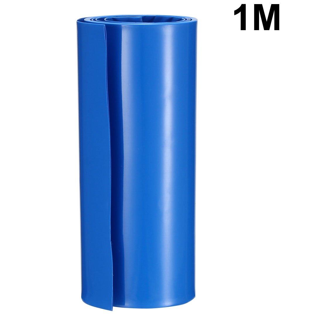 sourcing map 20pcs 18.5mm Dia PVC Thermor/étractables Tube bleu pour 1 x 18650//18500 Batterie