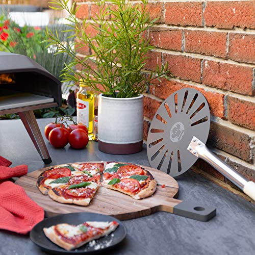 Chef Pomodoro Aluminum 9-Inch Turning Pizza Peel with Detachable Wood Handle for Easy Storage, 47-Inch Long, Gourmet Luxury Pizza Paddle for Baking Homemade Pizza Bread