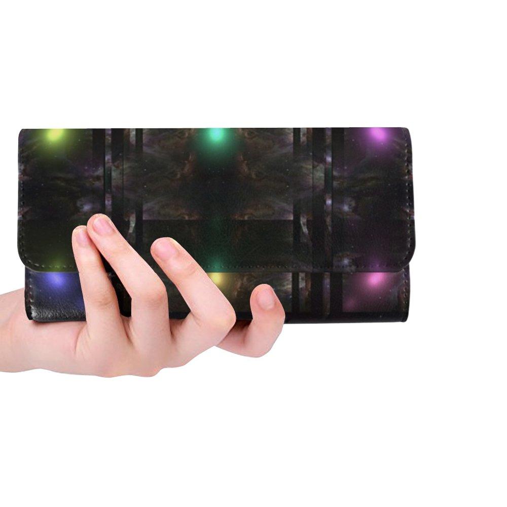 Unique Custom Abstract Sphere Box Space Hyper Sonic Tech Women Trifold Wallet Long Purse Credit Card Holder Case Handbag by JTMOVING