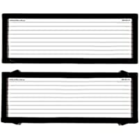 Number Plate Covers 5 Figure Standard Black Lines One Pair 5L NSW ACT SA WA NT