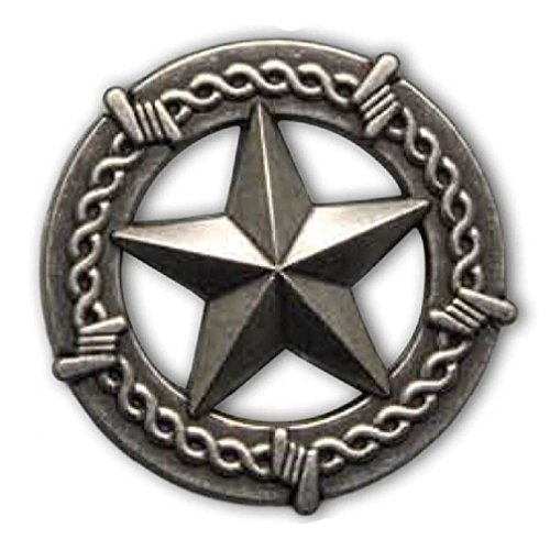 (General Texas Star Concho Old Silver-tone Barbed Wire 1.5
