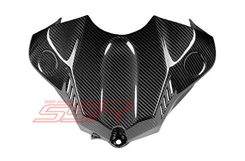 (2015-2019) Yamaha YZF R1 / R1S / R1M (100%) Twill Carbon Fiber Fuel/GAS Tank Airbox Cover Fairing [Same Weave Pattern & Gloss Finish As the Yamaha - R1 Yamaha Carbon