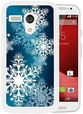 Amazon.com: Motorola Moto G Christmas Snowflake 14 White ...