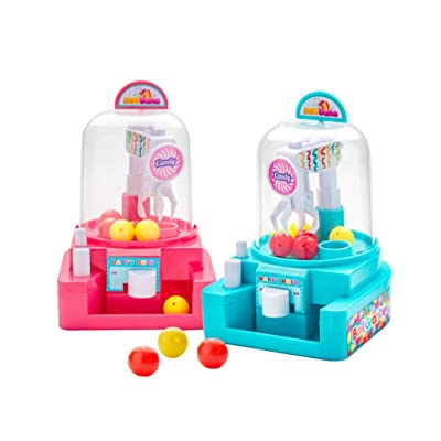 aoixbcuroc Niños Mini Simulación Catching Ball Machine Candy Catcher Manual Grabber Juguetes educativos para niños Niñas: Juguetes y juegos