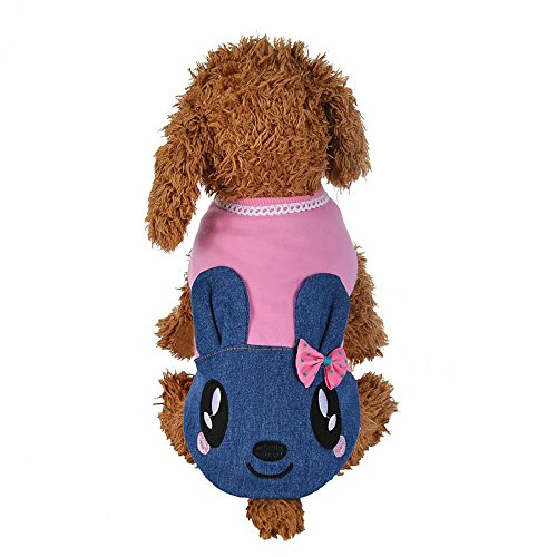 Cute Cave Girl Costume (Mikey Store Pet Dog Clothes Dog Cat Dress Hoody Rabbit Pet Puppy Coat Winter Warm Clothes (M, Pink))