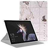 MoKo Microsoft New Surface Pro 2017 Case - Smart Slim Shell Lightweight Stand Cover Case for New Surface Pro 2017/Surface Pro 4 Tablet, Compatible with Type Cover Keyboard, Map B112
