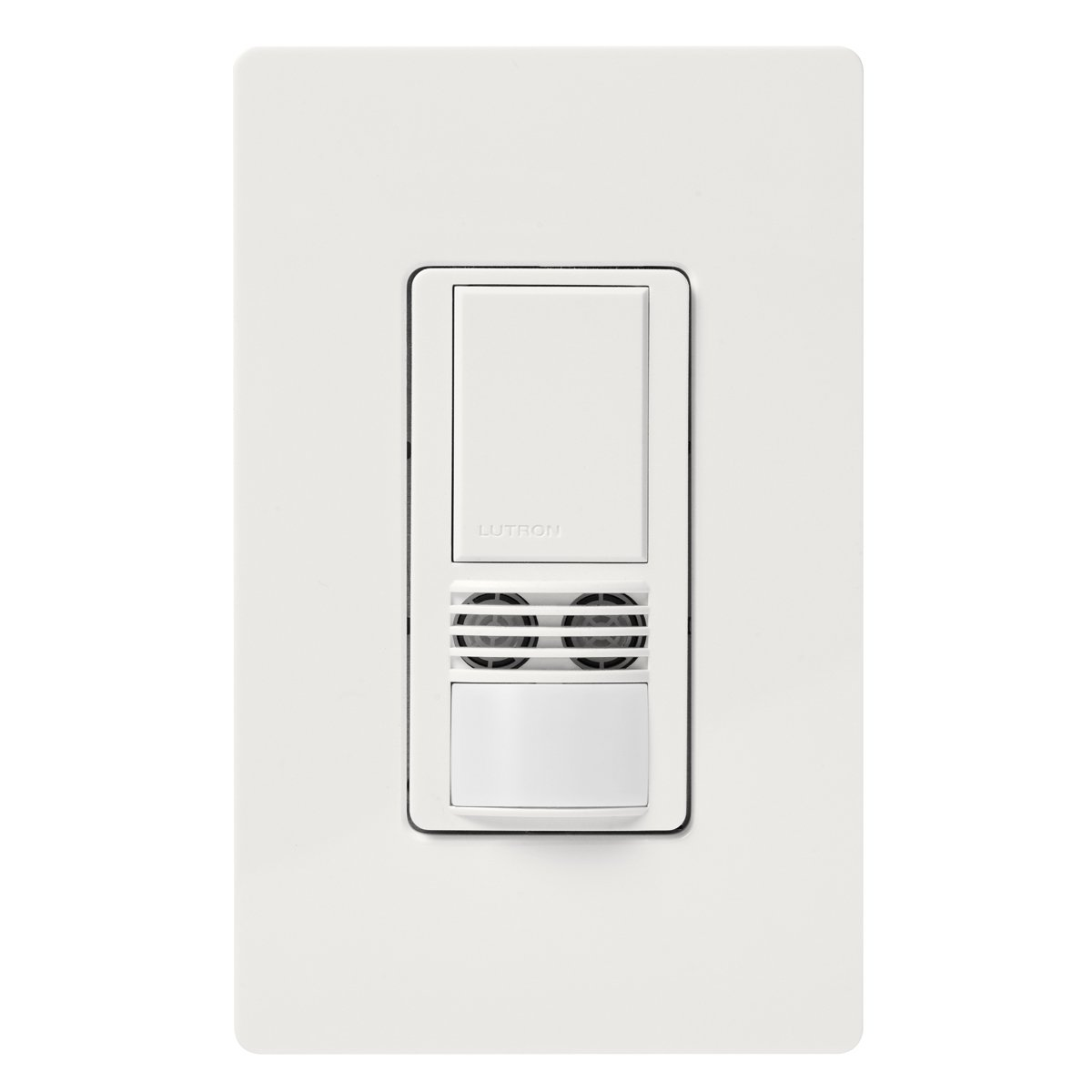 Lutron MS-A102-WH Maestro Dual Tech Occupancy Sensor Switch, no neutral required, 6 Amp Single-Pole, White