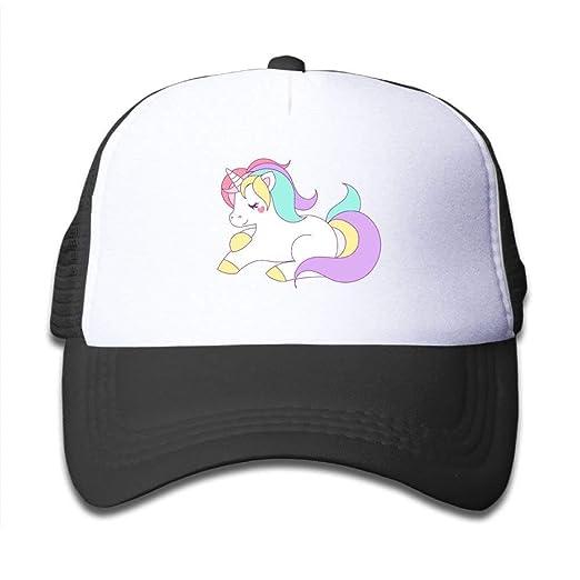 Trucker Caps Boy and Girl Cute Girly Pastel Rainbow Unicorn Mesh Baseball  Hats 3a8e2b73876