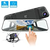 Dash Cam JEEMAK 1080P IPS Touch Screen 170° Wide Angle Truck Rearview Dash Camera Vehicle Recorder, Car DVR with Parking Monitor WDR Loop Recording