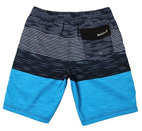 BABY-QQ Fashion Men's Hybrid Boardshorts Drying Fast Swimming Shorts Waist 34