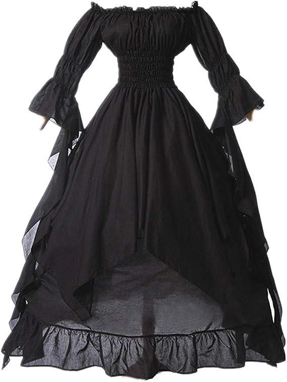 Victorian Plus Size Off Shoulder Dress