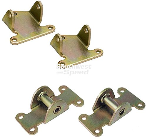 NEW SOUTHWEST SPEED CHEVY SOLID MOTOR MOUNT & SOLID PAD KIT, REPLACES OEM # 332648 & MOROSO # 62515 & # 62630, CAMARO, FIREBIRD, CHEVELLE, MALIBU, MONTE CARLO, EL CAMINO, NOVA, IMPALA, CAPRICE