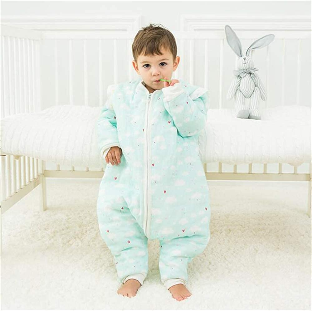 Attention Baby Sleeping Bag with Legs Warm Lined Winter Long Sleeve Winter Sleeping Bag with Foot