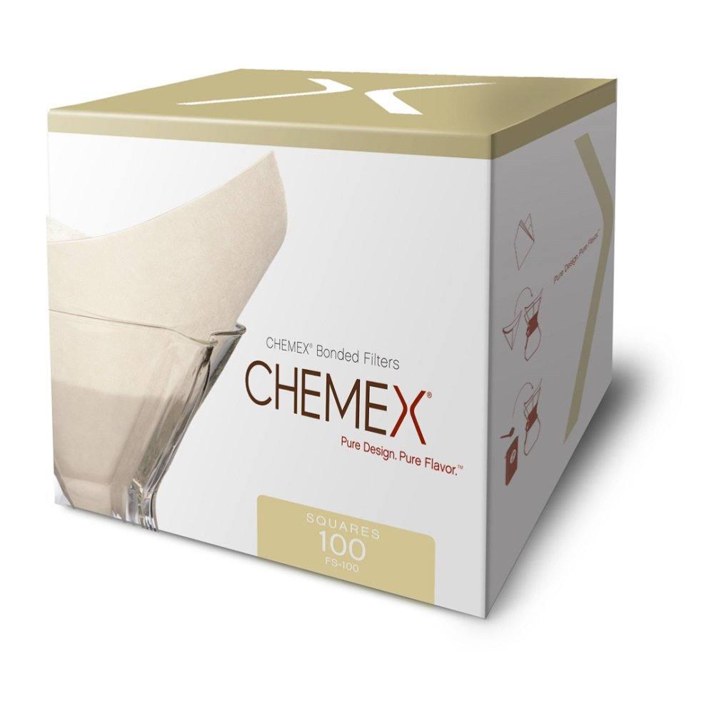 5 Pack Exclusive Packaging 100 ct Square Chemex Bonded Filter
