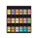 Beauty : Natrogix Nirvana Essential Oils - Top 18 Essential Oil Set 100% Pure Therapeutic Grade 18/10ml Incl. Lavender, Moroccan Rosemary, Tea Tree, Eucalyptus, Lemongrass and 13 More w/Free E-Book