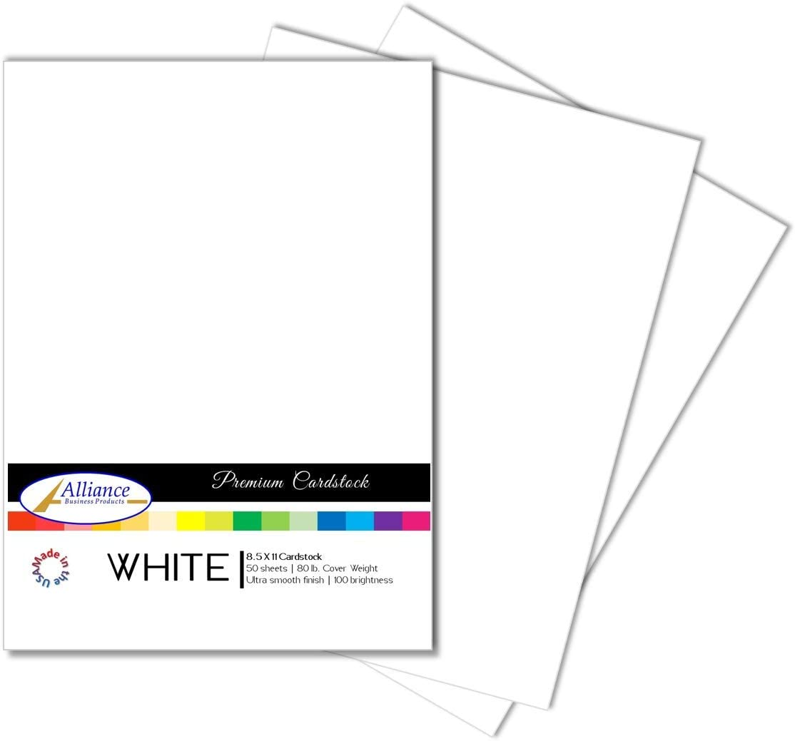 100 Sheet Cardstock Sheets Heavyweight White 5 X 7 Cards//Invitations//80lb 216gsm
